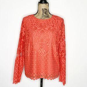 Anthropologie Moulinette Soeurs Lace Shirt Large